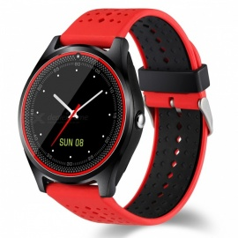 V9-Bluetooth-Smart-Watch-Phone-Support-2G-Micro-SIM-Card-With-Camera-Pedometer-Heart-Rate-Monitoring-Red