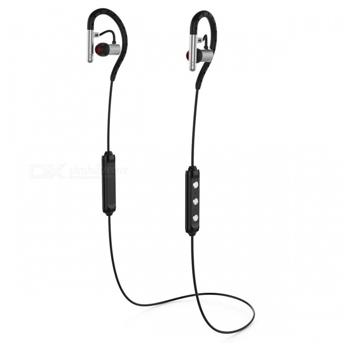 Brutus S503 Metal Waterproof IPX4 Sport Bass HIFI Bluetooth V4.1 Earphone, Noise Cancel Headset Support Apt-X with Mic - Silver