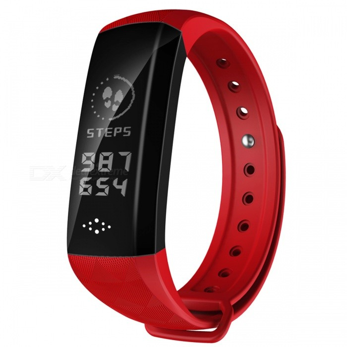 M2S IP67 Waterproof 0.96 OLED Smart Bracelet with Blood Pressure Oxygen Monitor, Step CounterSmart Bracelets<br>Form  ColorRed + BlackModelM2ZQuantity1 DX.PCM.Model.AttributeModel.UnitMaterialABSShade Of ColorRedWater-proofIP67Bluetooth VersionBluetooth V4.0Touch Screen TypeYesCompatible OSAndroid system 4.4 version or above ;iOS system 8.0 version or above ;Support  bluetooth with 4.0 versionBattery Capacity80 DX.PCM.Model.AttributeModel.UnitBattery TypeLi-polymer batteryStandby Time5-7 DX.PCM.Model.AttributeModel.UnitPacking List1 x Smart Band1 x User manual<br>