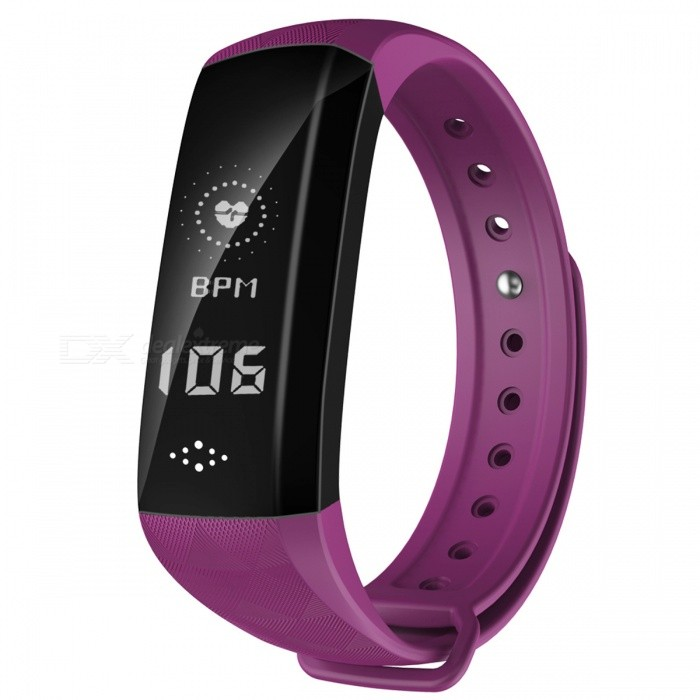 M2S IP67 Waterproof 0.96quot OLED Smart Bracelet with Blood Pressure Oxygen Monitor, Step Counter
