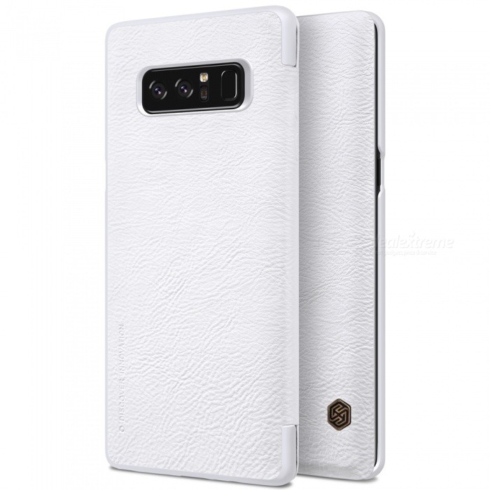 Nillkin Protective PU Leather Case for Samsung Galaxy Note 8 - WhiteLeather Cases<br>Form  ColorWhiteModelNSXNOT8QX08MaterialPU LeatherQuantity1 DX.PCM.Model.AttributeModel.UnitShade Of ColorWhiteCompatible ModelsSamsung Galaxy Note 8FeaturesAnti-slip,Shock-proof,Abrasion resistancePacking List1 x NILLKIN QIN Leather Cover<br>