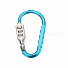 OJADE Multifunctional Outdoor Portable D-Type Password Lock, Luggage Climbers Fast Padlock - Blue
