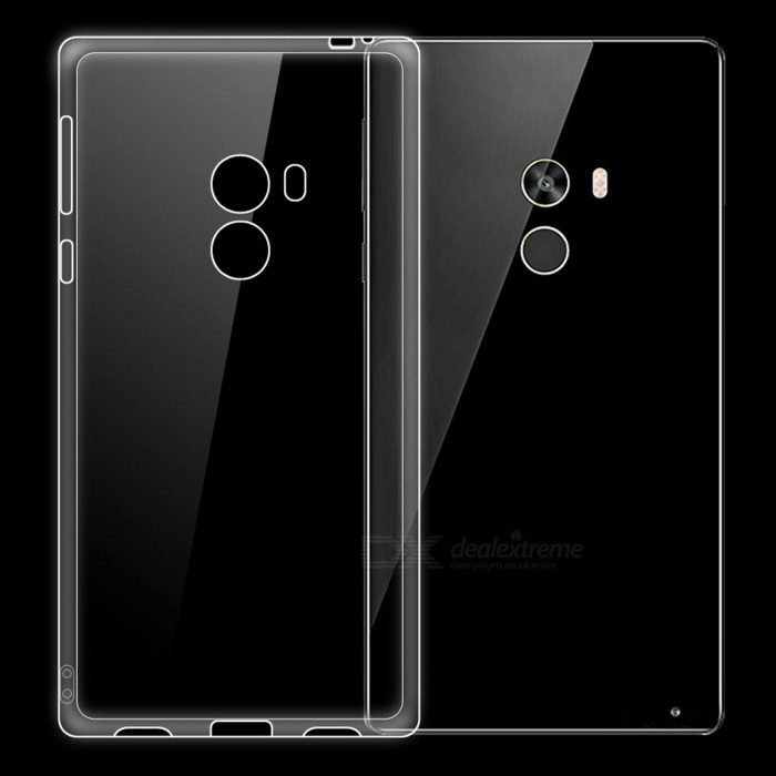 Dayspirit Ultra-Thin Protective TPU Back Case for Xiaomi Mi Mix - TransparentTPU Cases<br>Form  ColorTransparentModelN/AMaterialTPUQuantity1 pieceShade Of ColorTransparentCompatible ModelsXiaomi Mi MixPacking List1 x Case<br>