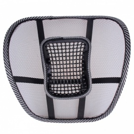 Car Seat Cover Cool Massage Cushion Back Waist Lumbar Brace Office Chair Seat Support - Black
