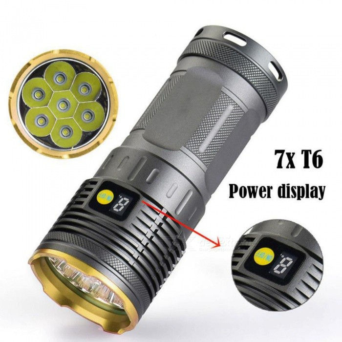 ESAMACT T6 7 The Lamp Hunting Small Steel Gun Flashlights Bright Flashlight
