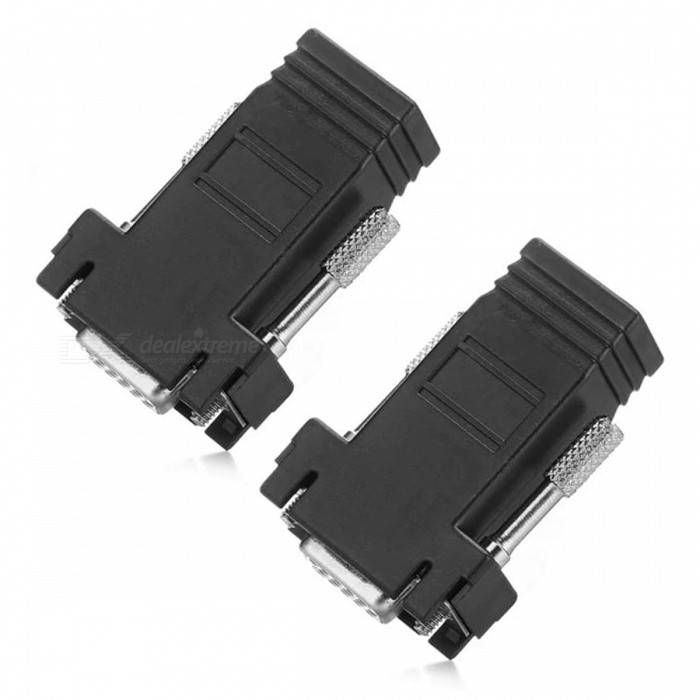 Zásuvka VGA female to RJ45 s adaptérem (2 PCS)