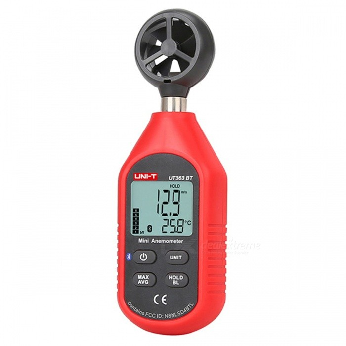 UNI-T UT363BT Mini Bluetooth Anemometer - Red + Black
