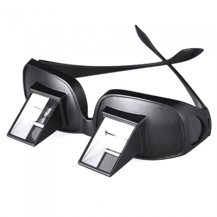 OJADE Creative Lazy Periscope, Horizontal Reading TV Sit View Glasses, Prism SpectaclesEyeshade<br>Form  ColorBlack + Glass LensWaterproofNoModelN/AMaterialPlasticQuantity1 DX.PCM.Model.AttributeModel.UnitShade Of ColorBlackPacking List1 x Lazy glasses<br>
