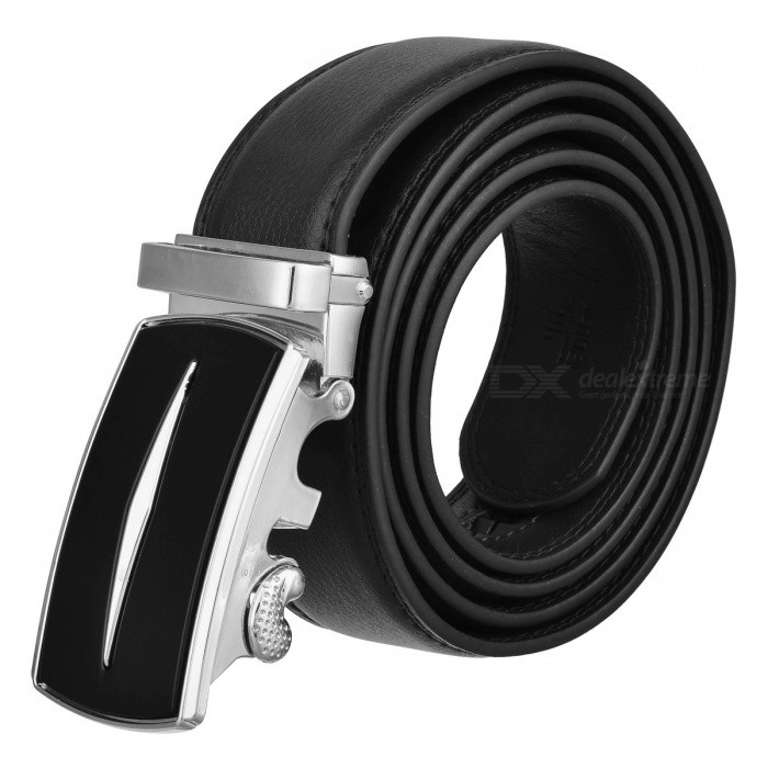 Axis Style Dual Layer Leather Belt with Automatic Buckle for Men