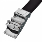 Cross-Shaped Style Leather Belt with Automatic Buckle for Men - Brown + Silver