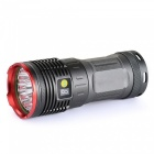 ESAMACT 12-XML T6 4000lm Ultrabright Outddor Emergency Flashilght - Black (4 x 18650)