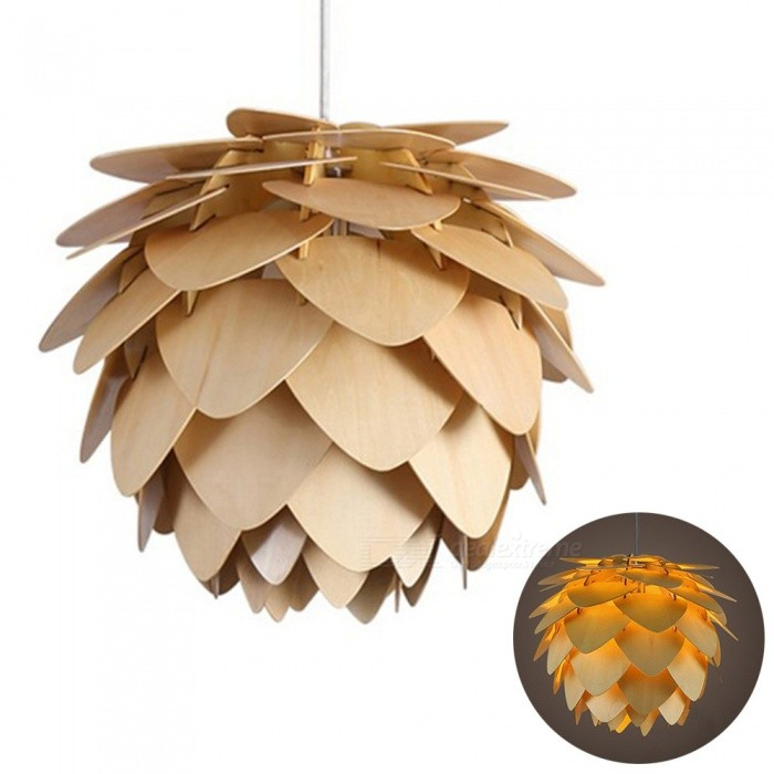 YouOKLight AC85-265V E26/E27 Modern Pine Cones Shape Pendant Lamp, Dropping Light for Foyer, Home, Room, Loft DecorationOther Accessories<br>Form  ColorLight BrownModelYK2411MaterialWoodQuantity1 DX.PCM.Model.AttributeModel.UnitRate VoltageAC 85-265VConnector TypeE27,Others,E26Packing List1 x Pendant lamp (no include lamp)<br>