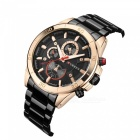 CURREN 8275 Stylish Water Resistant Quartz Wrist Watch - Golden + Black