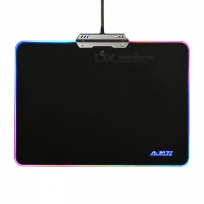 AJAZZ RGB Touch Control USB Wired Mouse Pad, Hard Gaming Mousepad with 10 Lighting Modes for Games / Office