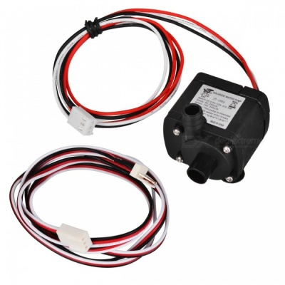 4.5~12V 180A Mini Submersible Water Pump with 1m 3P Extension Cable - Black