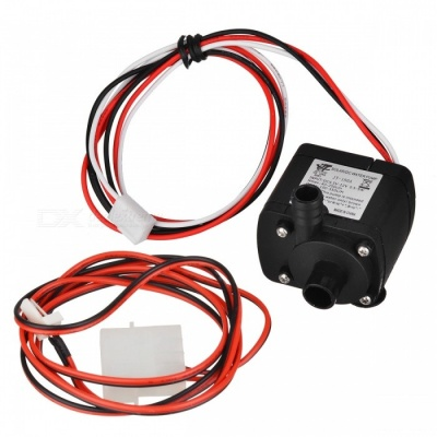 4.5~12V 180A Mini Submersible Water Pump with 1m 4P Extension Cable - Black