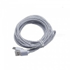 Cwxuan Nylon Woven USB 2.0 to USB 3.1 Type-C Sync Data Charging Cable - White (180CM)