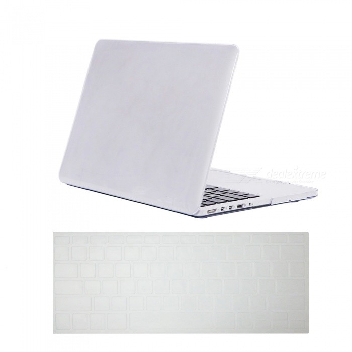 Dayspirit Ultra Slim Crystal Hard Case + Keyboard Cover for MacBook Pro 13.3 with Retina Display A1425/A1502 - WhiteNetbook&amp;Laptop Cases<br>Form  ColorTranslucent WhiteModelN/AQuantity1 DX.PCM.Model.AttributeModel.UnitShade Of ColorWhiteMaterialPCCompatible ModelMacbook Pro 13.3 with Retina DisplayCompatible BrandAPPLETypeFull Body CasesStyleBusiness,Casual,Fashion,ContemporaryCompatible Size13.3 inchPacking List1 x Hard shell (top + bottom)1 x Keyboard cover<br>