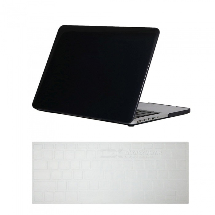 Dayspirit Ultra Slim Crystal Hard Case + Keyboard Cover for MacBook Pro 13.3 with Retina Display A1425/A1502 - BlackNetbook&amp;Laptop Cases<br>Form  ColorTranslucent BlackModelN/AQuantity1 DX.PCM.Model.AttributeModel.UnitShade Of ColorBlackMaterialPCCompatible ModelMacbook Pro 13.3 with Retina DisplayCompatible BrandAPPLETypeFull Body CasesStyleBusiness,Casual,Fashion,ContemporaryCompatible Size13.3 inchPacking List1 x Hard shell (top + bottom)1 x Keyboard cover<br>