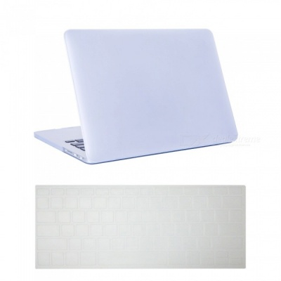 """Dayspirit Ultra Slim Matte Hard Case + Keyboard Cover for MacBook Pro 13.3"""" with Retina Display A1425/A1502 - White"""
