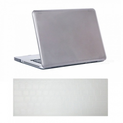 Dayspirit Ultra Slim Crystal Hard Case + Keyboard Cover for MacBook Pro 15.4 inch with CD-ROM (A1286) - Gray