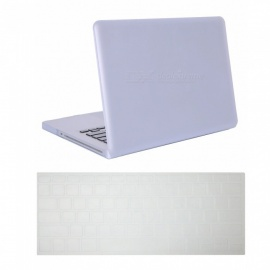 Dayspirit-Ultra-Slim-Matte-Hard-Case-2b-Keyboard-Cover-for-MacBook-Pro-154-inch-with-CD-ROM-(A1286)-White