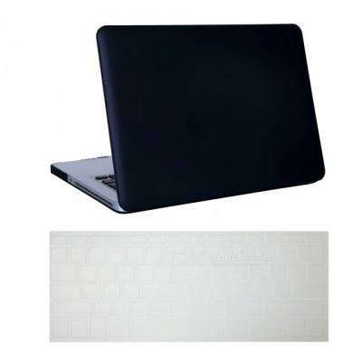 Dayspirit Ultra Slim Matte Hard Case + Keyboard Cover for MacBook Pro 15.4 inch with CD-ROM (A1286) - Black