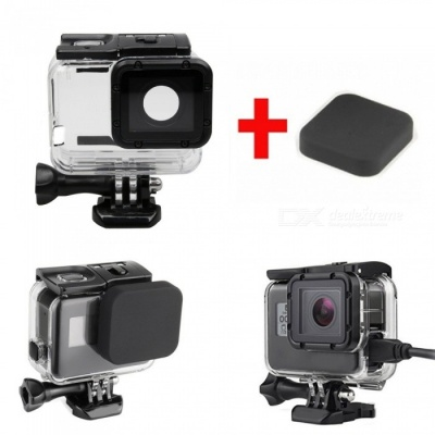 Skeleton Housing Case with Silicone Lens Cap for GoPro Hero 6 5