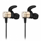 ZHAOYAO Sports Bluetooth V4.2 Stereo Earphones Headset for Running, Jogging - Golden
