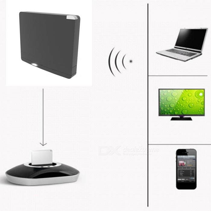 IP03 Mini Portable Bluetooth A2DP Music Audio Receiver Adapter with Built-in Apple 30-Pin Dock - BlackAV Adapters And Converters<br>Form  ColorBlackModelIP03MaterialABSQuantity1 DX.PCM.Model.AttributeModel.UnitShade Of ColorBlackConnectorOthers,30 pin interfaceCertificationCEPacking List1 x Receiver<br>
