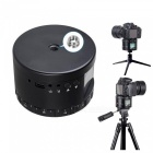 Portable Aluminum Mini LED Electronic Panorama Head for Camera Gopro - Black