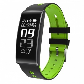 S13-096-OLED-Smart-Bluetooth-Bracelet-with-Heart-Rate-Oxygen-Pressure-Monitor-Green