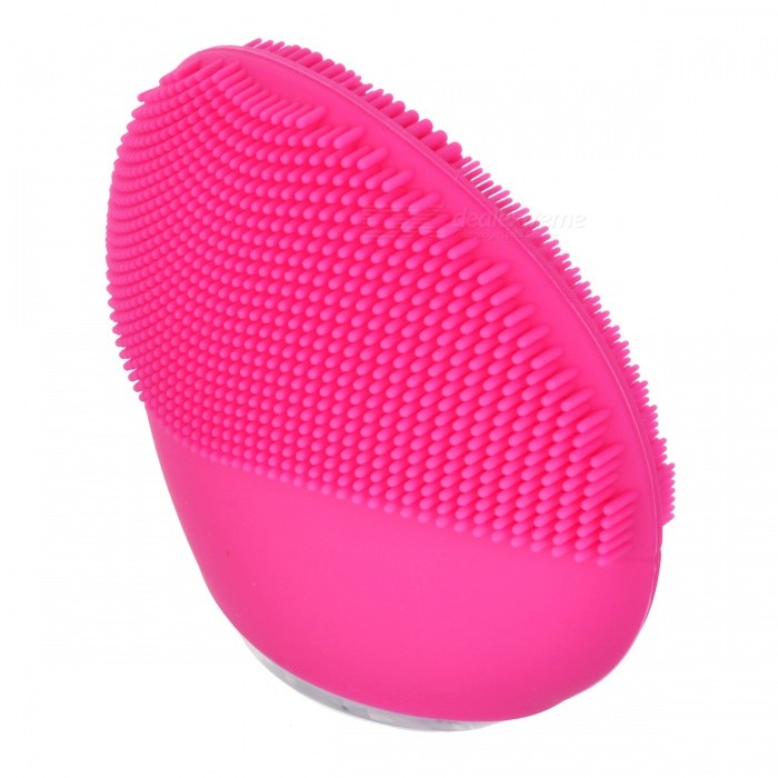... Mini Portable Waterproof Electric Silicone Facial Cleanser, Sonic Face Cleaning Washing Machine Massage Brush ...