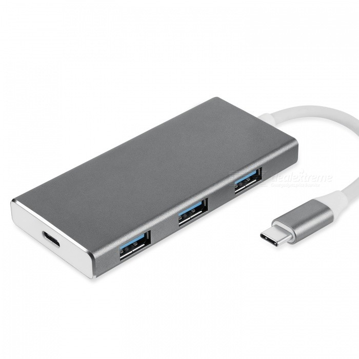 BLCR 7-in-1 Type-C Hub Adapter with 3 USB 3.0 Ports, HDMI Output, Type-C Charging Port, SD/Micro SD Card Reader