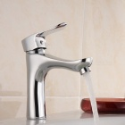ZHAOYAO Stainless Steel Plating Thumbs Shape Single Hole Water Faucet for Bathroom
