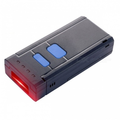 Portable Bar Code Laser Reader Scanner, Pocket Size Red Light CCD Bluetooth Barcode Scanner for IOS Android Windows