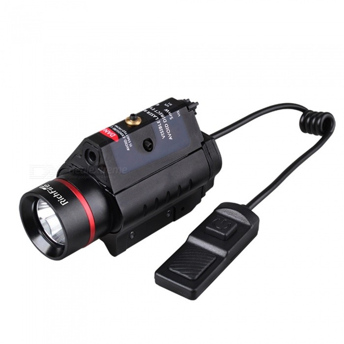 RichFire SF-P36 5mW Red Laser Gun Sight with Mount, Tactical LED Flashlight - Black