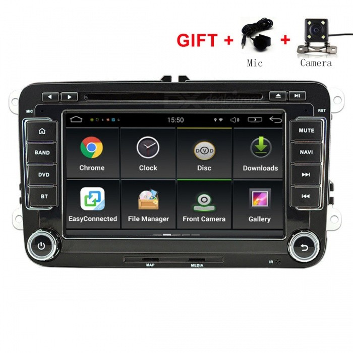 Funrover 7quot Android 6.0 OEM Car DVD Player w/ 1024*600 GPS Auto Radio RDS for VW Golf Polo Jetta Skoda Seat Cars