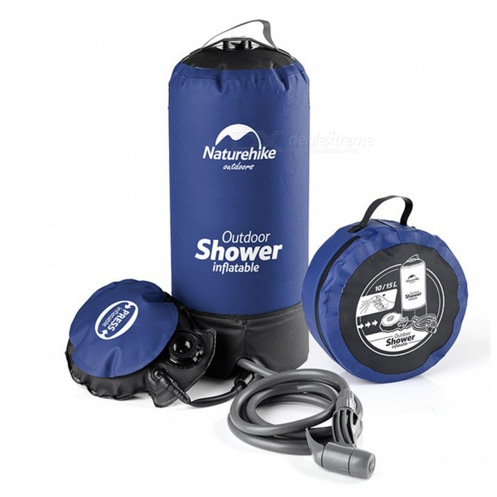 NatureHike Outdoor Folding Shower Bath Bag, Non-Solar Water Bag - Blue, BlackOther Sports Gadgets<br>Form  ColorBlueModelNH17L101-DQuantity1 DX.PCM.Model.AttributeModel.UnitMaterialPVC + ABSPowered ByOthers,NOPacking List1 x Outdoor shower bag<br>