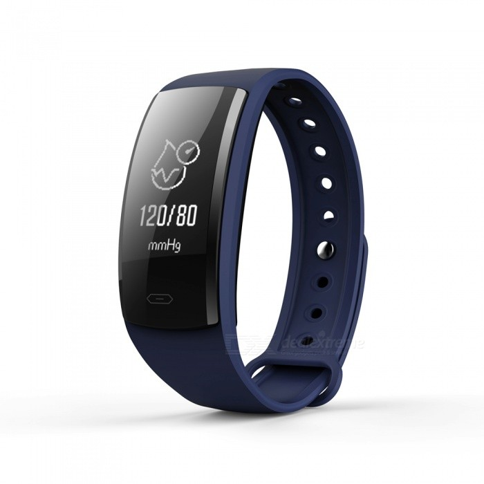 QS90 Sports 0.96 TFT Bluetooth V4.0 Waterproof Smart Bracelet Wristband with Heart Rate Monitoring - Navy Blue + BlackSmart Bracelets<br>Form  ColorDark Blue + BlackModelQS90Quantity1 DX.PCM.Model.AttributeModel.UnitMaterialPlasticShade Of ColorBlueWater-proofIP67Bluetooth VersionBluetooth V4.0Touch Screen TypeYesOperating SystemNoCompatible OSAndroid and IOSBattery Capacity70 DX.PCM.Model.AttributeModel.UnitBattery TypeLi-polymer batteryStandby Time7 DX.PCM.Model.AttributeModel.UnitOther FeaturesCPU: Nordic 52832; <br>Heart rate sensor; Triaxial sensor step analysis, sedentary reminder, sleep monitoring, heart rate monitoring, Contact touchPacking List1 x Smart Bracelet1 x Charging Cable<br>