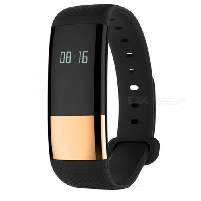 M4 Smart Wristband Bracelet with Heart Rate Monitor, Fitness Tracker for Android iOS - Black + GoldenSmart Bracelets<br>Form  ColorBlack + Golden + Multi-ColoredModelM4Quantity1 DX.PCM.Model.AttributeModel.UnitMaterialABSShade Of ColorBlackWater-proofYesBluetooth VersionBluetooth V4.0Touch Screen TypeYesOperating SystemAndroid 4.4Compatible OSiOS 7.0Battery Capacity60 DX.PCM.Model.AttributeModel.UnitBattery TypeLi-polymer batteryStandby Time7 DX.PCM.Model.AttributeModel.UnitPacking List1 x Smart Bracelet<br>