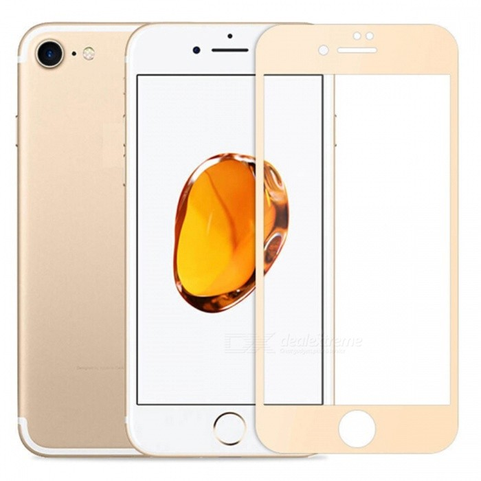 Naxtop Full Screen Protector Tempered Glass for IPHONE 8 - GoldScreen Protectors<br>Screen TypeGoldModelN/AQuantity1 DX.PCM.Model.AttributeModel.UnitMaterialTempered GlassForm  ColorGoldenCompatible ModelsIPHONE 8StyleScreen protectorScreen FeaturesScratch ProofPacking List1 x Tempered glass film1 x Wet wipe1 x Dry wipe1 x Dust absorber<br>