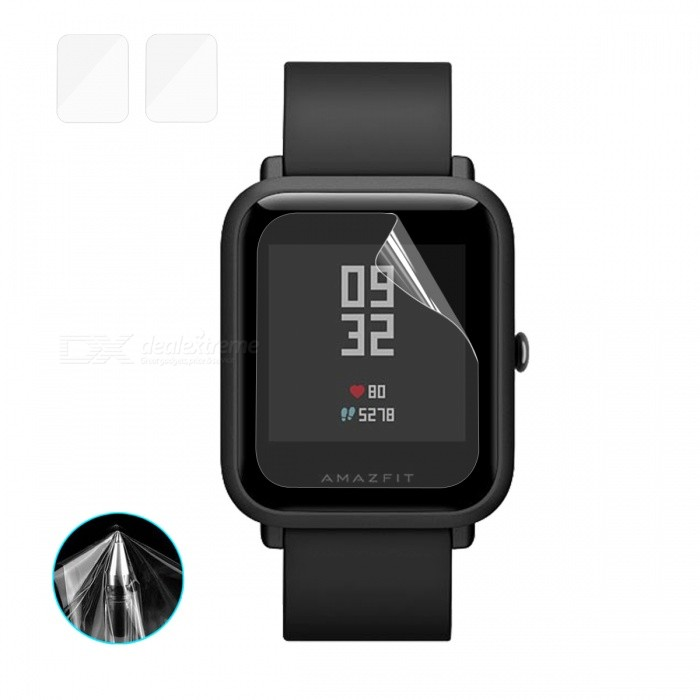 Hat-Prince TPU Soft Screen Protector for Huami AMAZFIT Smart Watch (2PCS)Wearable Device Accessories<br>Form  ColorTransparentModel-Quantity2 DX.PCM.Model.AttributeModel.UnitMaterialTPUPacking List2 x Screen Protectors2 x Dust Removers2 x Cleaning Cloths2 x Alcohol Prep Pads<br>