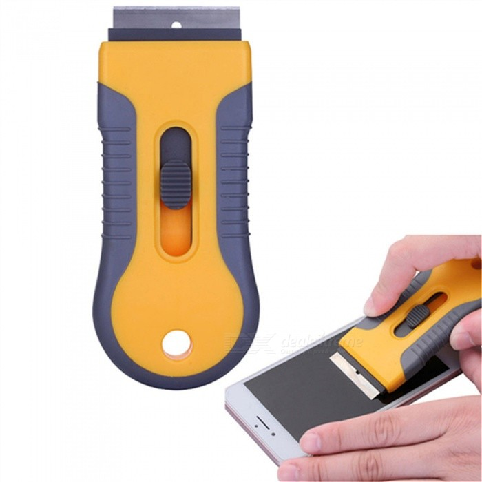 OJADE Stainless Steel Blade Phone Screen Glass Glue Remove Scraper Knife Clean ToolOther Tools<br>Form  ColorOrangeQuantity1 DX.PCM.Model.AttributeModel.UnitMaterialABSPacking List1 x Tool<br>