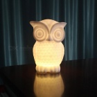 P-TOP-20lm-1W-LED-Bead-Beam-Battery-Powered-Owl-Shaped-Night-Light-Desk-Lamp-Warm-White-(3-x-AAA-Batteries)