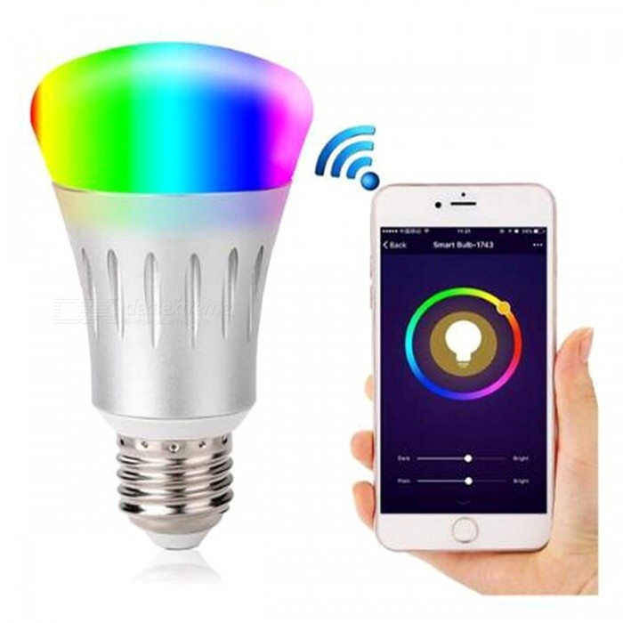 P-TOP E27 1W Dimmer Smart Wi-Fi RGB + White LED Light Bulb with APP Control (AC 85-265V)