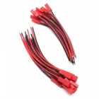 ZHAOYAO 10mm 150mm Male Female JST Connector Plug Cable for RC Battery (30 Pairs)