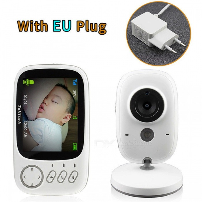 Wireless Digital Video Camera Baby Monitor with 3.2 Inch LCD Display - EU Plug