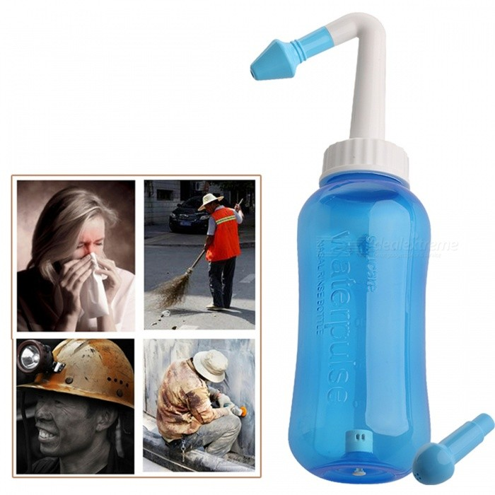 Buy Adults Children 300ML Neti Pot Standard Nasal Nose Wash, Yoga Detox Sinus Allergies Relief Rinse - Blue with Litecoins with Free Shipping on Gipsybee.com