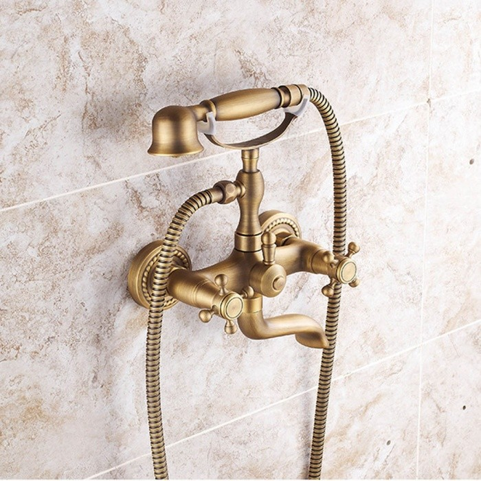 ZHAOYAO-European-Antique-Style-Copper-Handheld-Bathroom-Shower-Faucet-Set